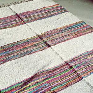 Buy Indian Cotton Rug Blanca Colore
