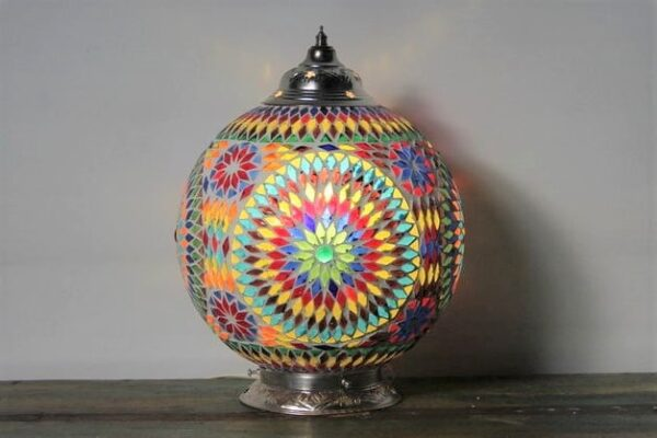 Turkish Moroccan Mosaic Table Lamp Misbah L