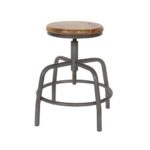 Industrial Stool Wood with Steel