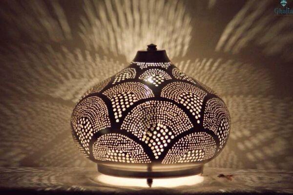 Egyptian filigree floor Vintage Oriental Table Lamp Isra M
