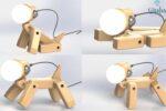 best Dog Lamp Wood | Handmade Hroome Dog Lamp Wood