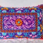 buy Oriental Pillow Damali Purple