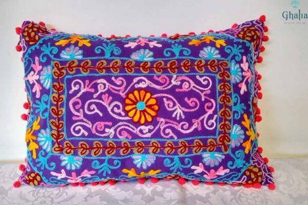 Buy Oriental Purple Pillow 50 x 35