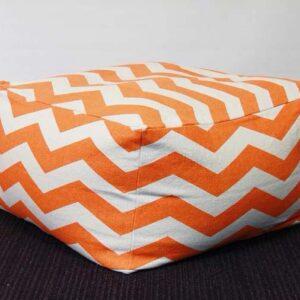 Buy Oriental Orange Pouf Ottoman 60 x 60 x 35 cm