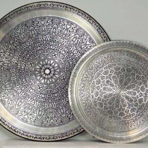 buy cheap Oriental Trays Brass brushed