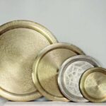 top Oriental Trays Brass brushed